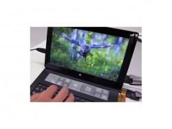 Surface-Tastatur mit E-Ink-Touchscreen (Screenshot: ZDNet bei Youtube)