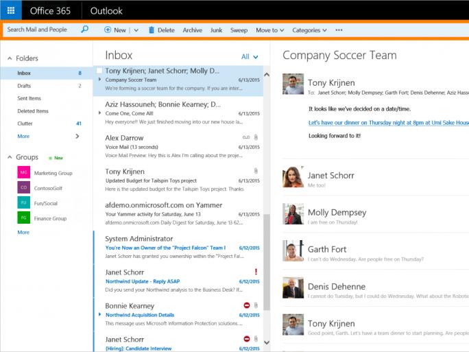 Eine neue Befehlsleiste am oberen Bildrand erlaubt einen schnellen Zugriff auf häufig benutzte Befehle (Bild: Microsoft).