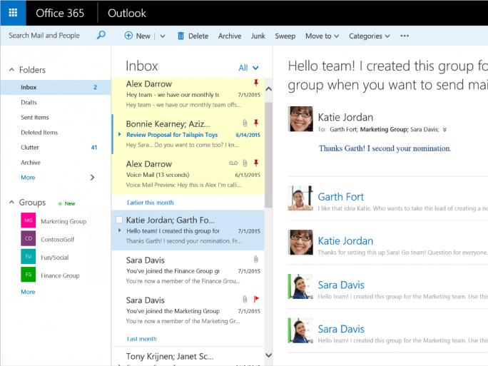 Nutzer von Outlook on the Web können E-Mails künftig im Posteingang anheften (Bild: Microsoft).
