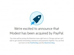 Paypal kauft Modest (Screenshot: ZDNet.de)