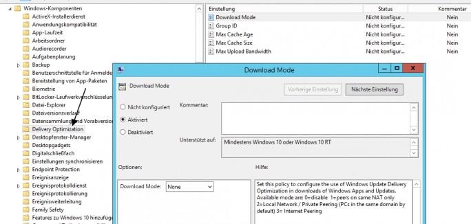 Windows Update for Business und andere Windows-Update-Einstellungen lassen sich auch über Gruppenrichtlinien verwalten (Screenshot: Thomas Joos).