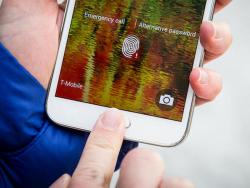 Fingerabdruckscanner des Samsung Galaxy S5 (Bild: CNET/CBS Interactive).