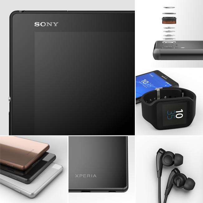 Sonys Teaser-Bild zur IFA 2015 lässt auf neue Smartphones, ein Tablet und eine Smartwatch schließen (Bild: Sony).