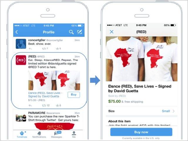 Twitter will mehr Kauf-Buttons in Tweets einbetten (Bild: Twitter).