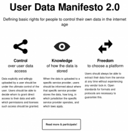 User Data Manifesto 2.0 (Screenshot: ownCloud)