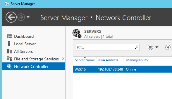 Der Network Controller in Windows Server 2016 arbeitet mit System Center 2016 Virtual Machine Manager zusammen und bietet einige Einstellungsmöglichkeiten (Screenshot: Thomas Joos).
