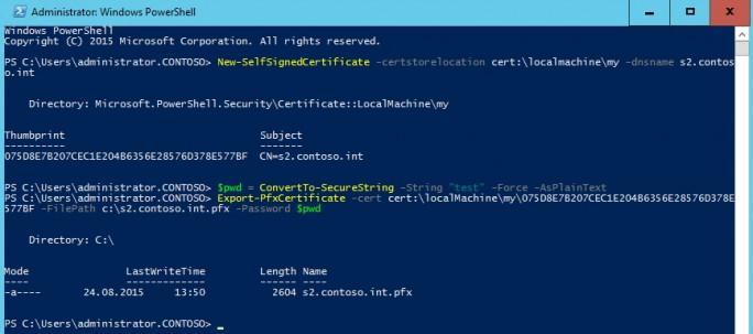 Um die verschiedenen neuen Dienste, wie ADFS, zu testen benötigen Administratoren ein selbstsigniertes Zertifikat (Screenshot: Thomas Joos).