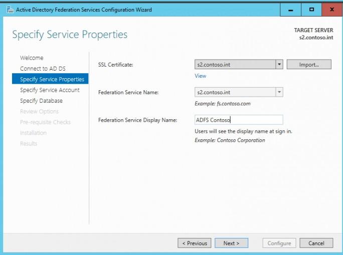 ADFS wird über einen Assistenten eingerichtet. Hier wird das erstellte Zertifikat verwendet (Screenshot: Thomas Joos).