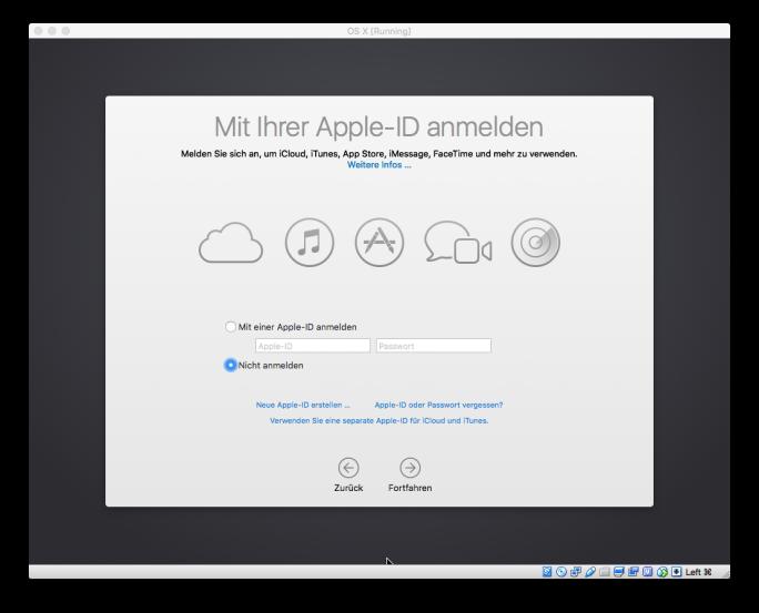 Virtualbox: Installation von OS X 10.11.1 El Capitan (Screenshot: ZDNet.de)
