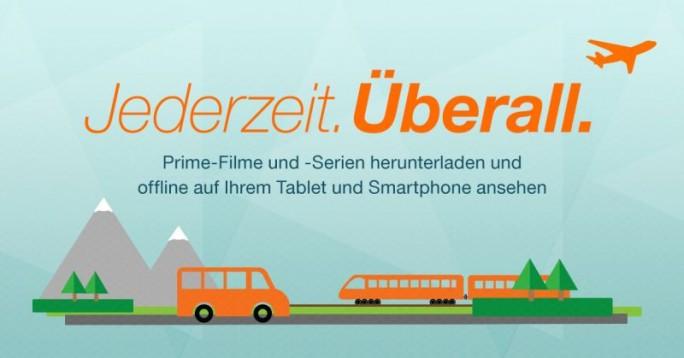 Amazon-Prime-Kunden können nun Filme und Serienfolgen zur Offline-Nutzung herunterladen (Bild: Amazon).
