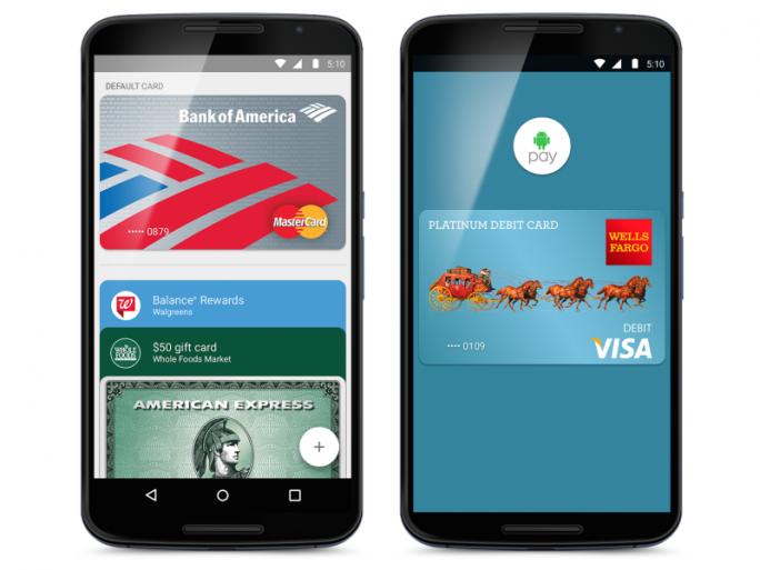 Mastercard, Visa, Discover und American Express unterstützen Android Pay (Bild: Google).