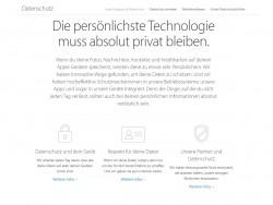 Apple hat seine Datenschutz-Infoseiten aktualisiert und dabei nicht mit Seitenhieben auf die Konkurrenz gespart (Screenshot: ZDNet.de).