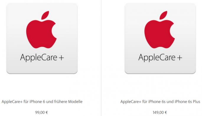 Apple hat die Preise von AppleCare+ für die neuen iPhones um 50 Prozent erhöht (Screenshot: ZDNet.de).