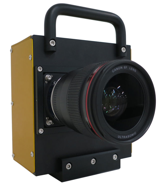 Kamera-Prototyp mit dem neu entwickelten 250-Megapixel-Sensor (Bild: Canon)