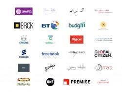 "Unterstützer der Initiative ""Connect the World"" (Screenshot: ZDNet.de)"