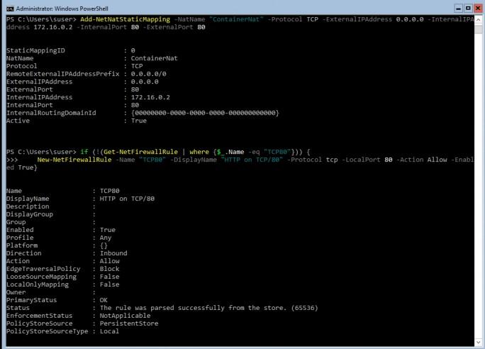 Auf dem Host wird der Zugriff per HTTP freigeschaltet um den Webserver zu testen (Screenshot: Thomas Joos).