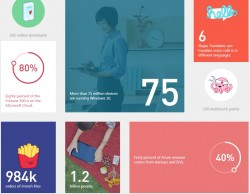 Microsoft in Zahlen (Screenshot: ZDNet)