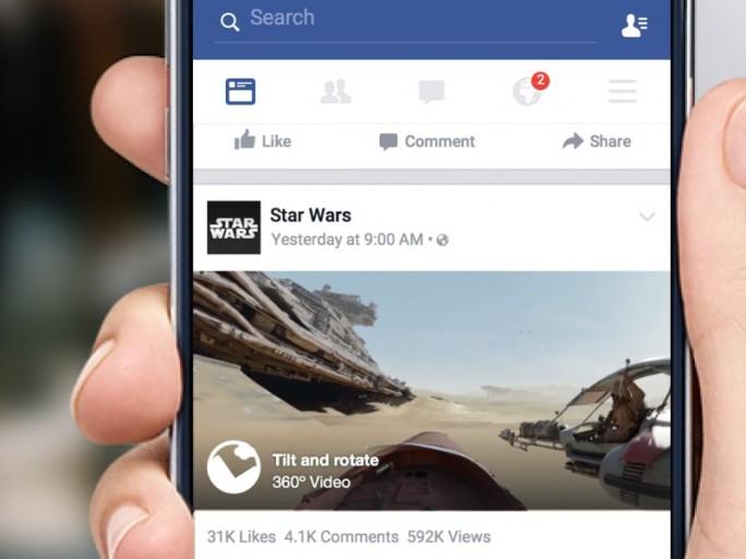 Im News Feed platziertes 360-Grad-Video (Bild: Facebook)