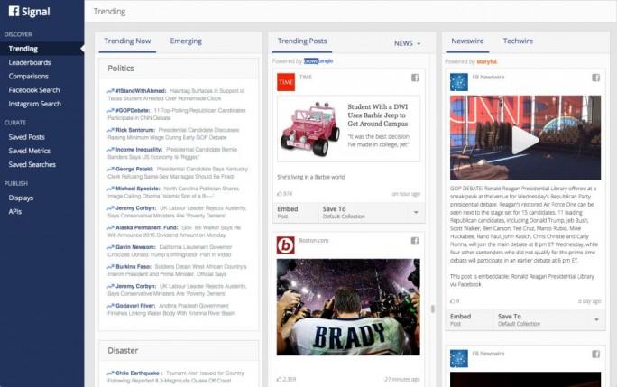 Signal soll Journalisten die Arbeit mit Facebooks Daten erleichtern (Bild: Facebook).