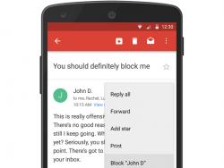 Gmail-Nutzer können jetzt einzelne Absender blockieren (Bild: Google).
