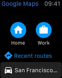 Google Maps auf der Apple Watch (Screenshot: Google, via iTunes)