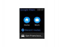 Google Maps für Apple Watch verfügbar