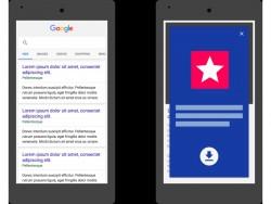 Google geht gegen seitengroße Hinweise auf Mobil-Apps vor (Bild: Google).