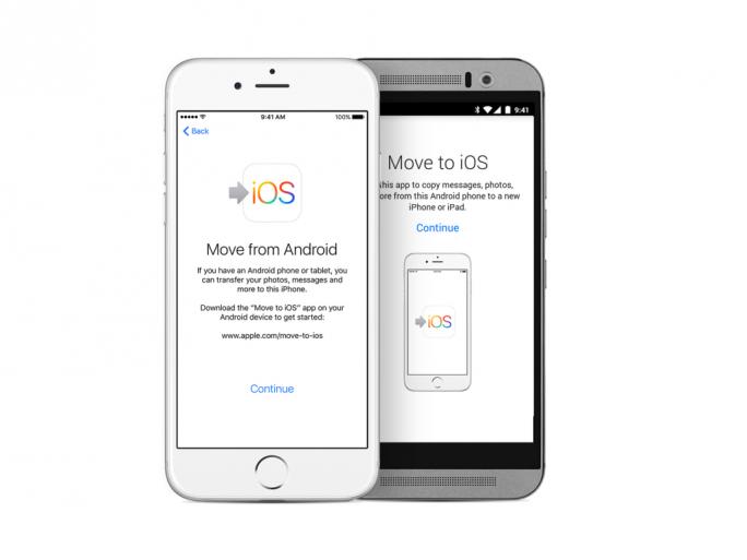 Move to iOS vereinfacht die Migration von einem Android-Gerät. Jetzt soll Apple auch ein Tool für den umgekehrten Weg entwickeln (Bild: Apple).
