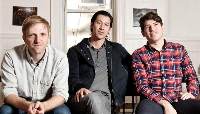Die Kickstarter-Gründer (v.l.n.r): Charles Adler, Perry Chen und Yancey Strickler (Bild: Jon Vachon/Kickstarter).