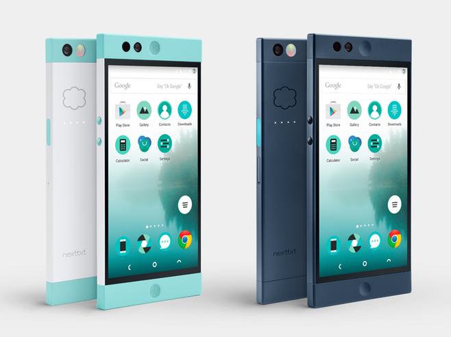 Das erste Nextbit-Smartphone soll Anfang 2016 in zwei Farbvarianten für 399 Dollar in den Handel kommen (Bild: Nextbit).