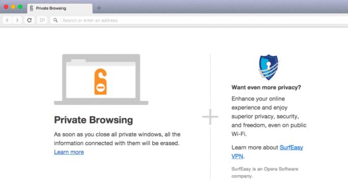 SurfEasys VPN-Technik erlaubt den verschlüsselten Transfer von Browserdaten (Bild: Opera).