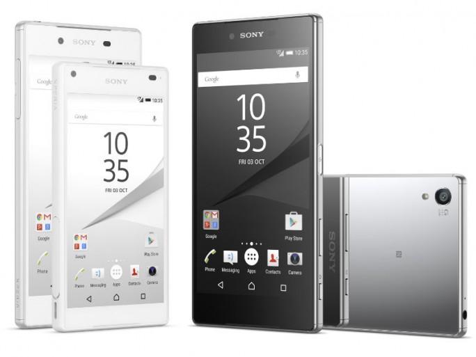 Sony hat neben dem Xperia Z5 und Xperia Z5 Compact (links) auch das Xperia Z5 Premium mit 4K-Display vorgestellt (Bild: Sony).