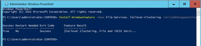 In der PowerShell werden die notwendigen Voraussetzungen für Storage Spaces Direct installiert (Screenshot: Thomas Joos).