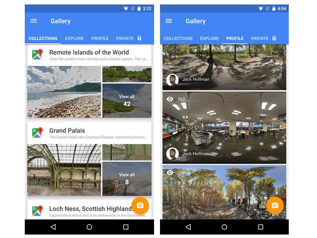 Die App lässt Google Maps und Panoramaaufnahmen von Nutzern aus aller Welt erkunden (Bild: Google).