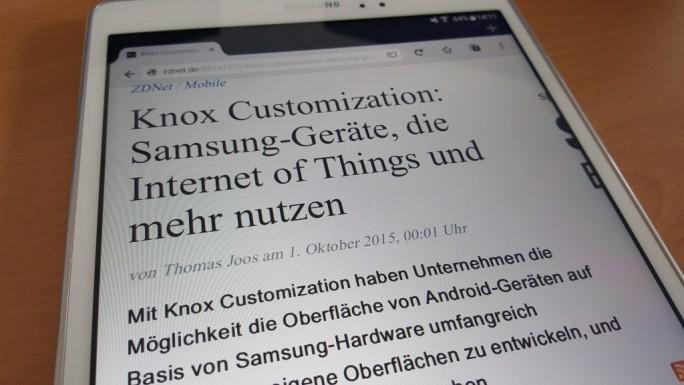 Samsung Galaxy A mit S Pen (Screenshot: ZDNet.de)