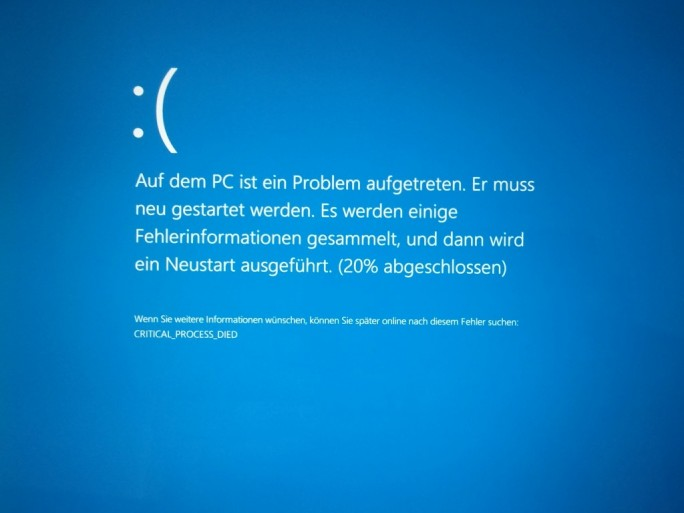 Windows-10-Bluescreen (Bild: ZDNet.de)