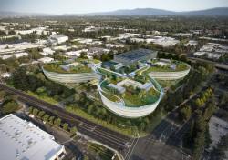 Fotomontage eines geplanten Bürokomplexes, den Apple angeblich mieten will (Bild: Landbank Investments).