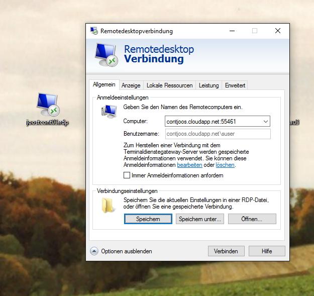 Die Einstellungen von RDP-Sitzungen lassen sich an die eigenen Anforderungen anpassen (Screenshot: Thomas Joos).