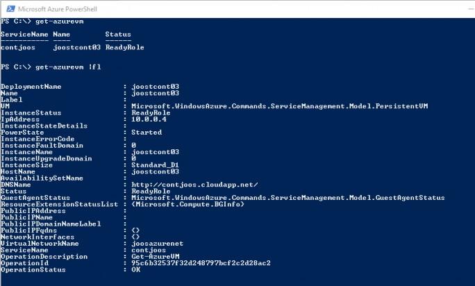 In der PowerShell lassen sich Informationen zu den installierten VMs, auch den Container-Hosts anzeigen (Screenshot: Thomas Joos).