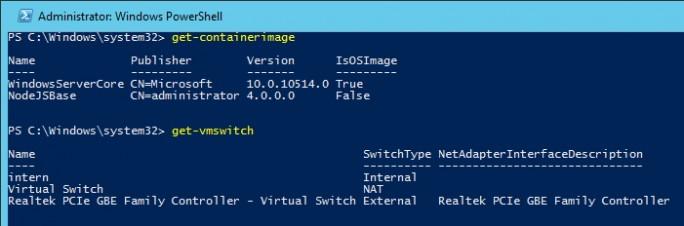 In der PowerShell lassen sich Administratoren die einzelnen Images für Container anzeigen (Screenshot: Thomas Joos).