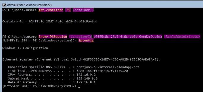 In der PowerShell-Sitzung kann der Container erstellt, gestartet und auch verwaltet werden (Screenshot: Thomas Joos).