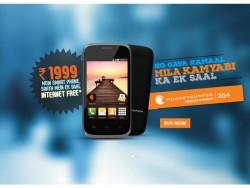 Derzeit günstigstes DataWind-Smartphone für den indischen Markt (Screenshot: ZDNet.de)