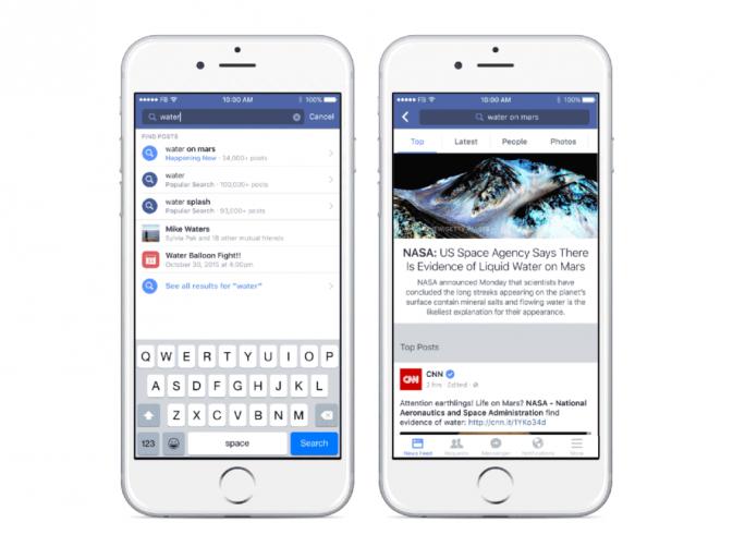 Facebook-Suche (Screenshot: Facebook)