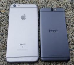 Optisch errinnert das One A9 stark an Apples iPhone 6. Die auffälligen Antennenbänder soll Apple aber selbst vom HTC One M7 abgekupfert haben (Bild: ZDNet.com).
