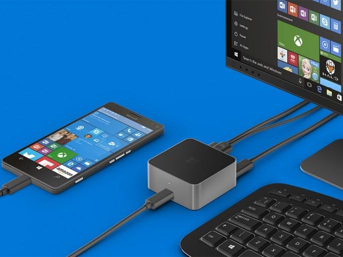 Über den Microsoft Display Dock wird das Lumia zu einem PC (Bild: Microsoft)