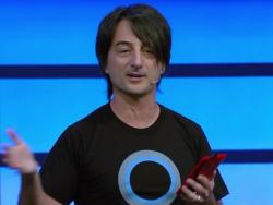 Joe Belfiore bei der Vorstellung von Cortana für Windows Phone auf der Build 2014 (Bild: Nick Statt/CNET).