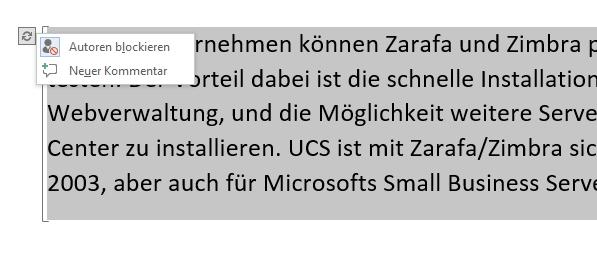 Dokumentbesitzer können andere Autoren auch blockieren (Screenshot: Thomas Joos).