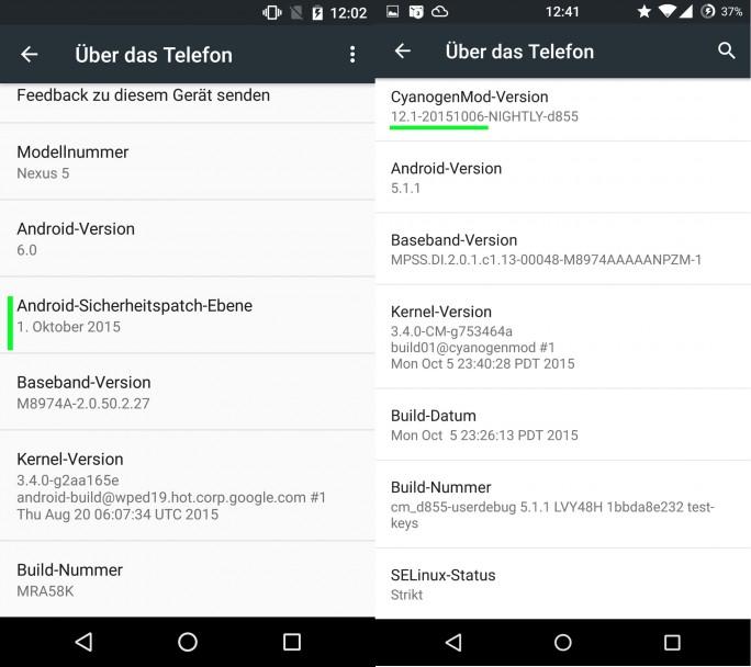 Kein Lampenfieber mehr für Nexus-Besitzer und CyanogenMod-Anwender: Beide Firmen haben die Stagefright-Lücken geschlossen (Screenshot: ZDNet.de)