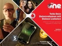 Vodafone Red+ erlaubt gemeinsame Nutzung von Datenvolumen