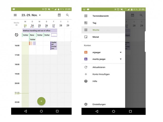 BlackBerry Priv: Kalender (Screenshot: Moritz Jäger)